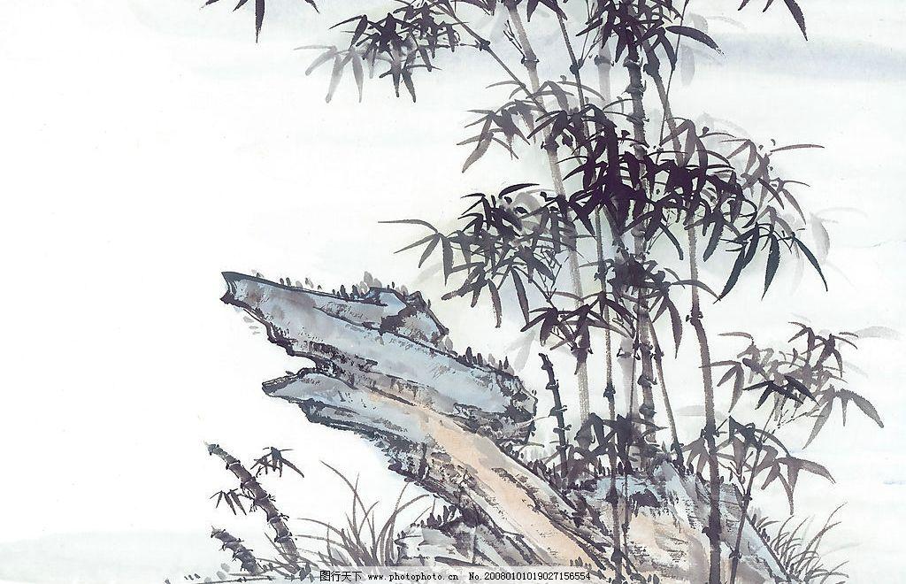 国画-竹 国画竹 自然景观 自然风光