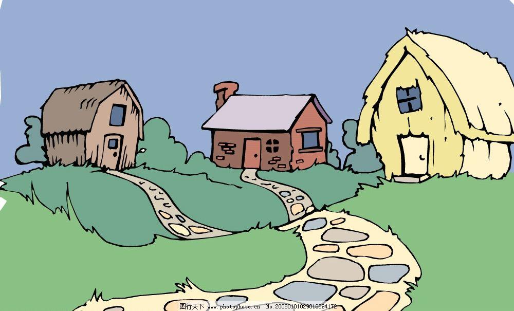 矢量房子1.cdr图片_其他_环境设计_图行天下图库