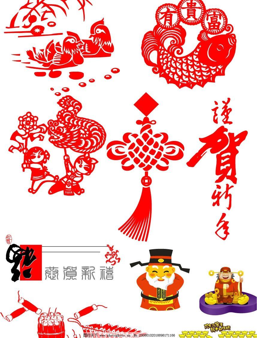 中国春节日简笔画
