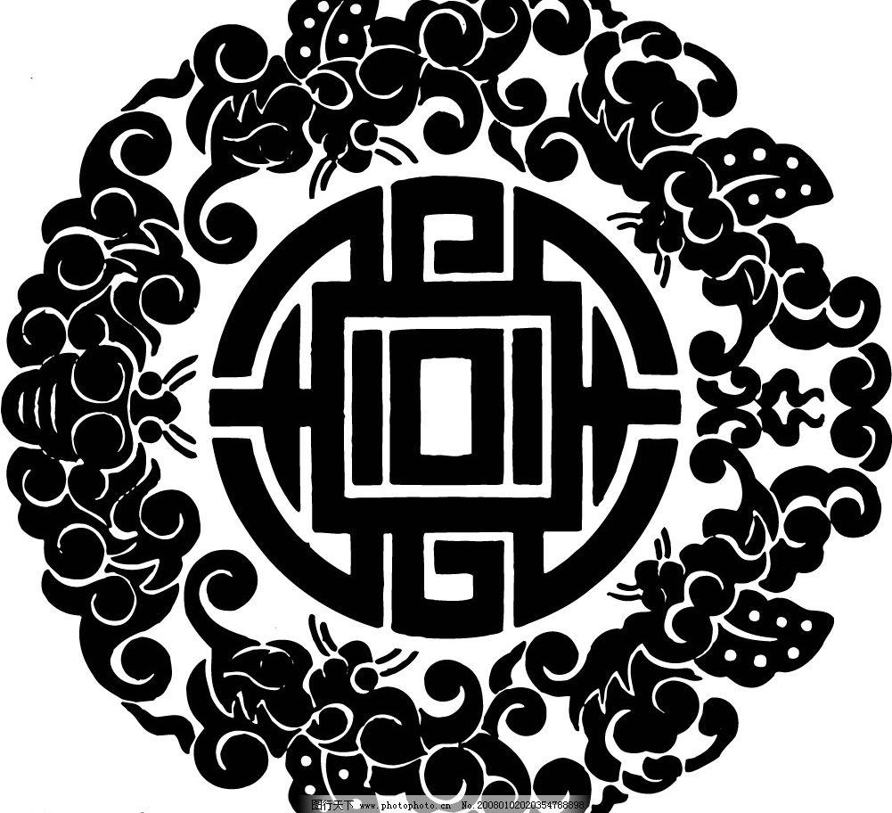 春节花纹 剪纸 底纹边框 花纹花边 矢量图库