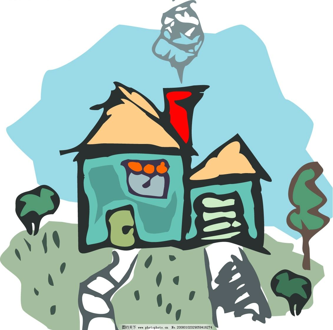 矢量房子8 建筑家居 其他 矢量房子 矢量图库   cdr
