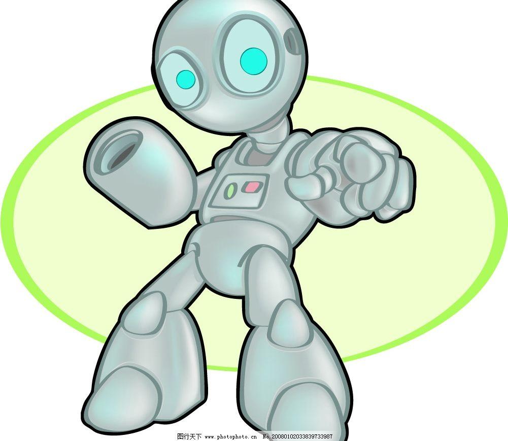 另类机器人矢量素材……图片