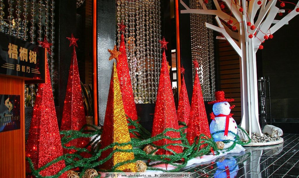 圣诞装饰图片_树木树叶_生物世界_图行天下图库