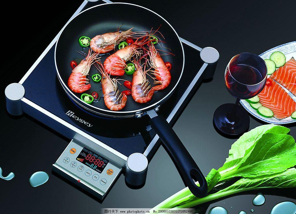 电磁炉 效果 青菜 水滴 数码 广告设计 其他 设计图库 300 jpg