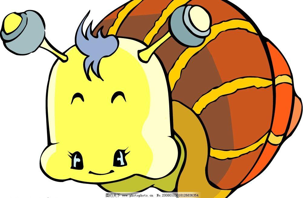 蜗牛 矢量动物 生物世界 其他生物 动物 矢量图库   ai