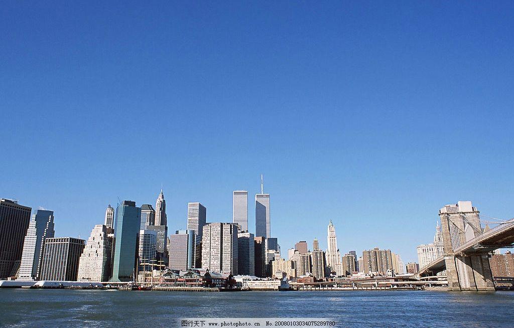 美国城市街景—曼哈顿 美国 纽约 高楼 城市 都市 街景 风景 自由女神