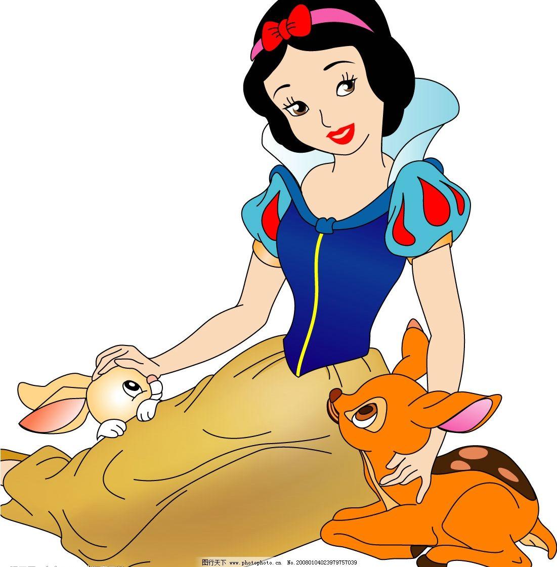 矢量白雪公主图片