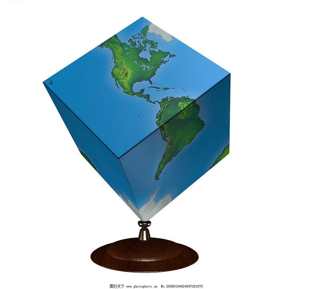 地球仪 创意方形 自然景观 自然风光 设计图库 300 jpg