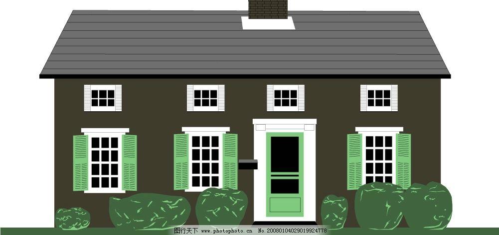 矢量房子22 建筑家居 其他 矢量房子 矢量图库   cdr