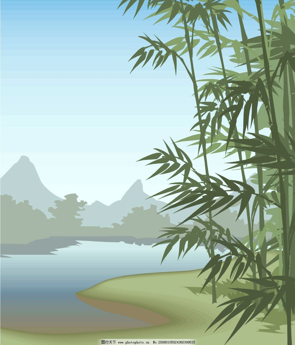 竹林风景 自然景观 其他