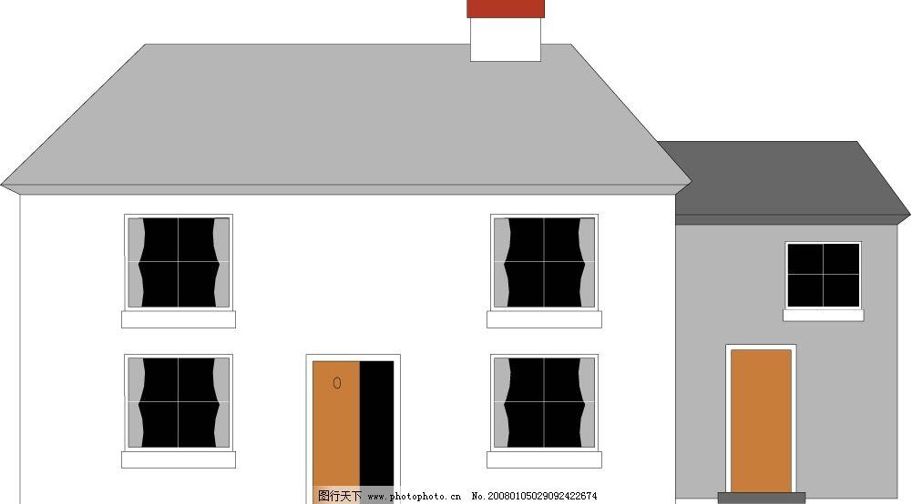 矢量房子26 建筑家居 其他 矢量房子 矢量图库   cdr