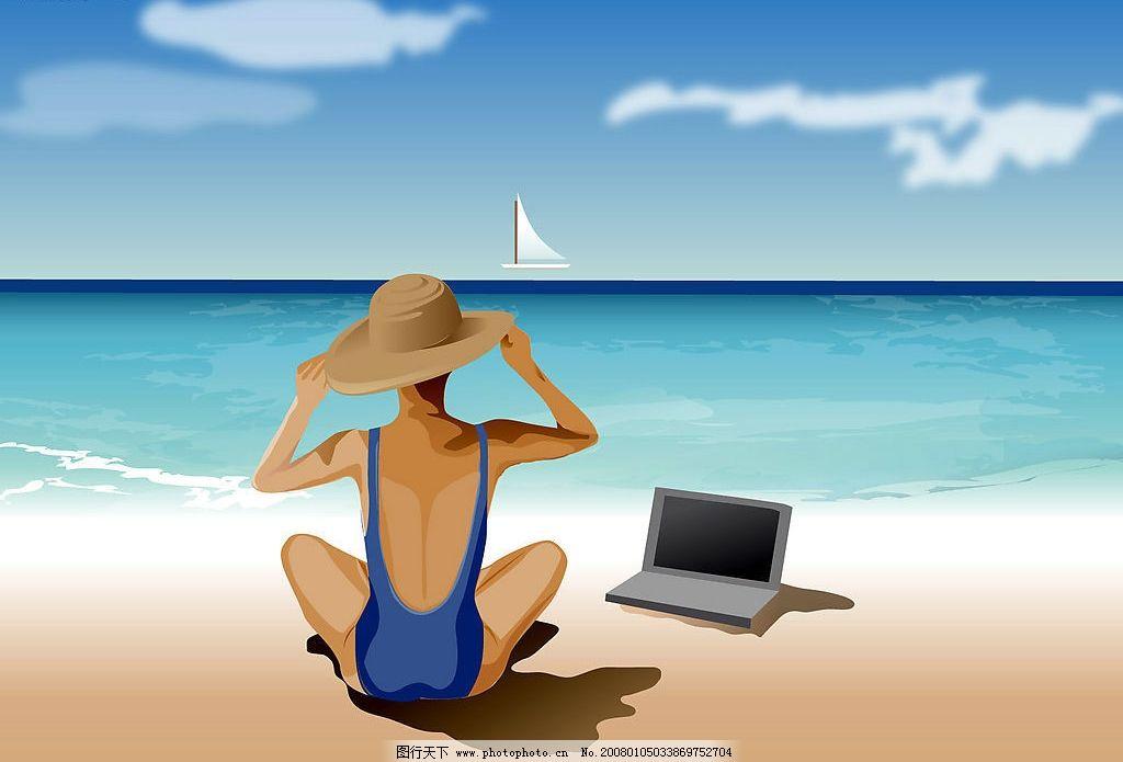 矢量海滩 矢量海滩(不是精品我不传) 其他 图片素材 设计图库   jpg