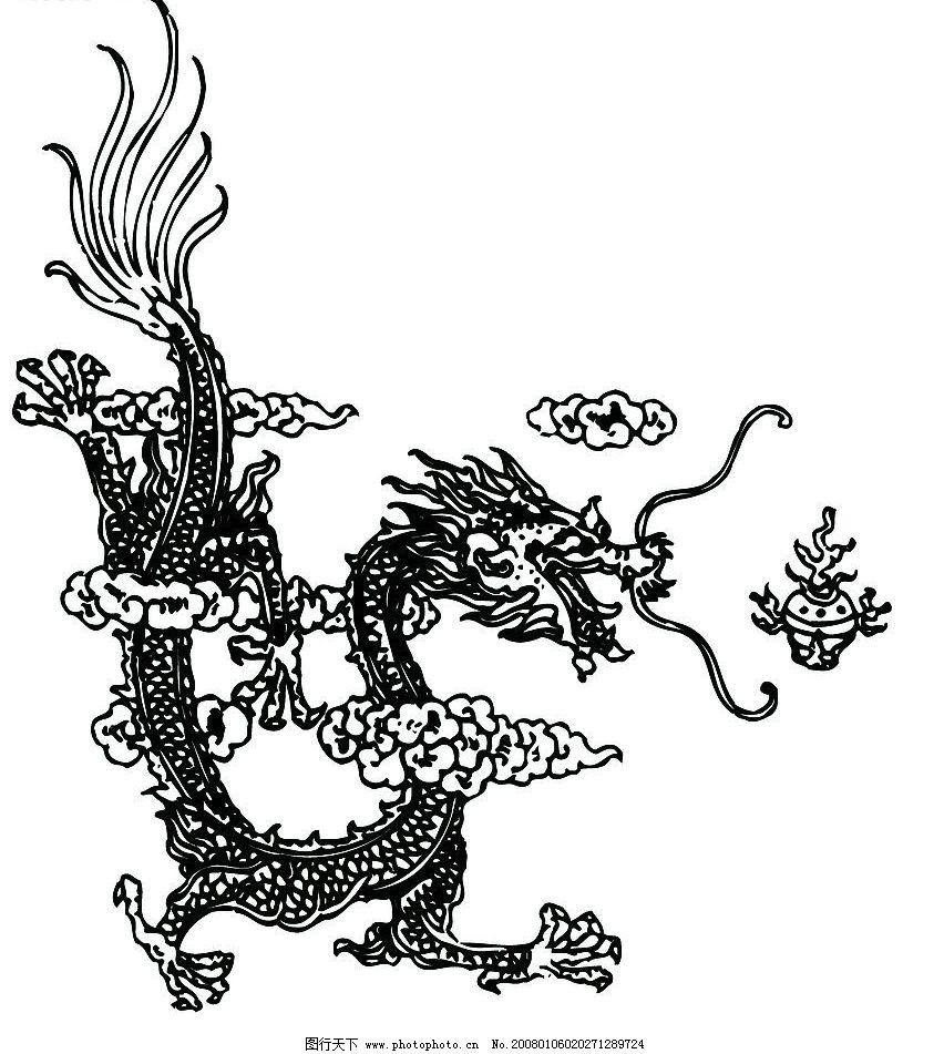 中国龙 龙 底纹边框 背景底纹 设计图库 300 jpg
