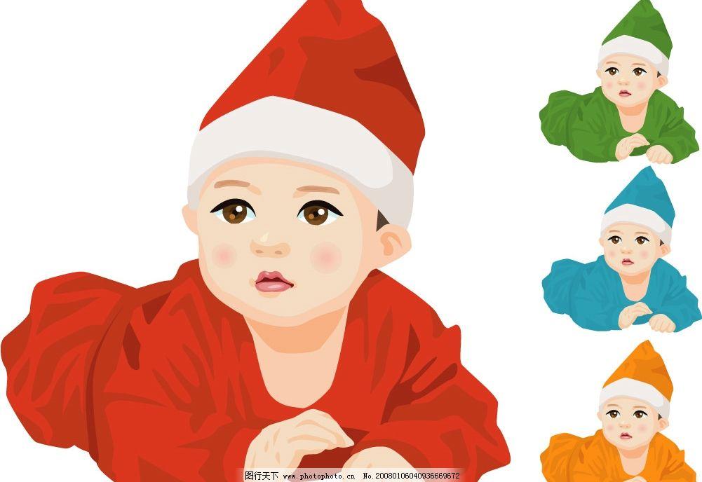 可爱宝宝 矢量宝宝 唯美写实类型 很值得期待哟 矢量人物 儿童幼儿