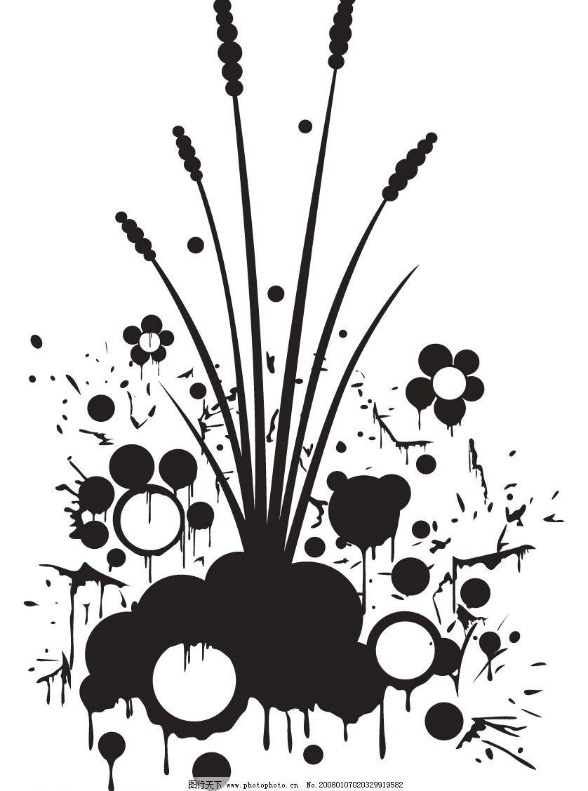 矢量黑白底纹 风格 花纹花边 大量精品矢量花边素材 矢量图库