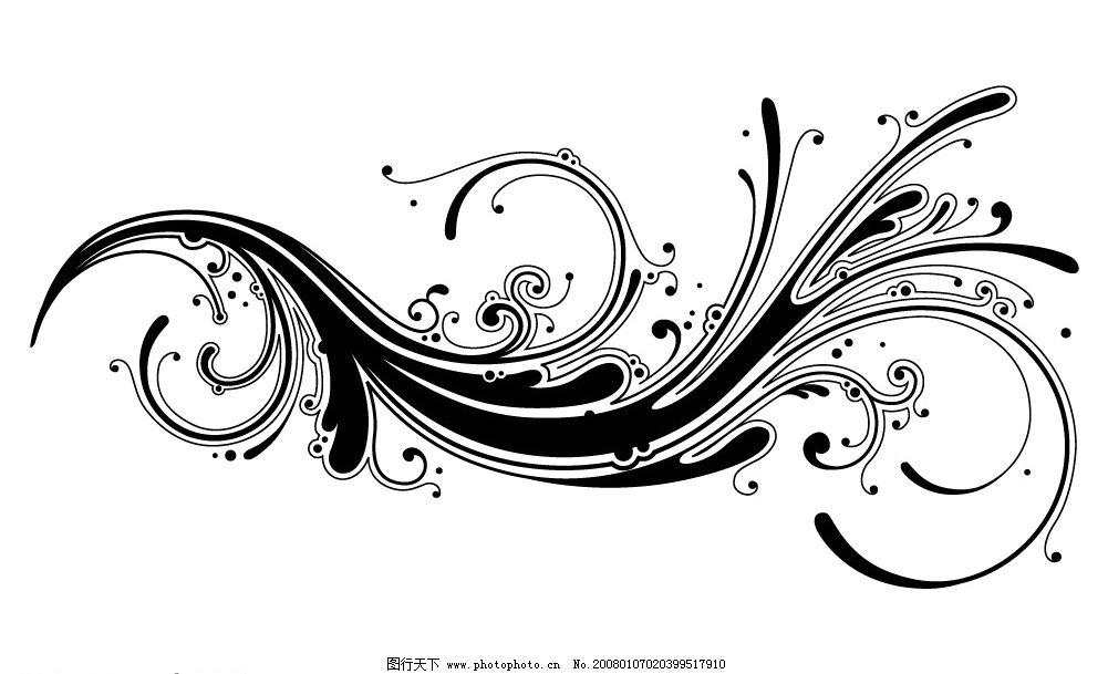 矢量黑白底纹 矢量 黑白 底纹 风格 底纹边框 花纹花边 大量精品矢量