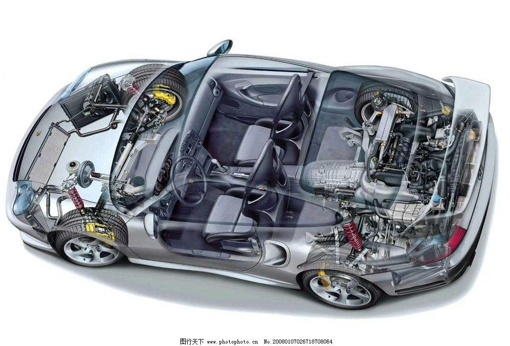 透视车子素材 透视 车 现代科技 交通工具 车子素材 设计图库 72 jpg