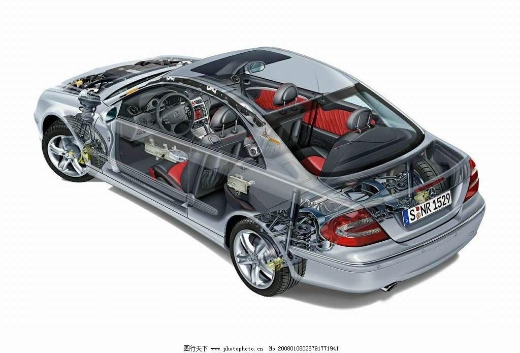 透视 银灰色 车子 素材 现代科技 交通工具 车子素材 设计图库   jpg
