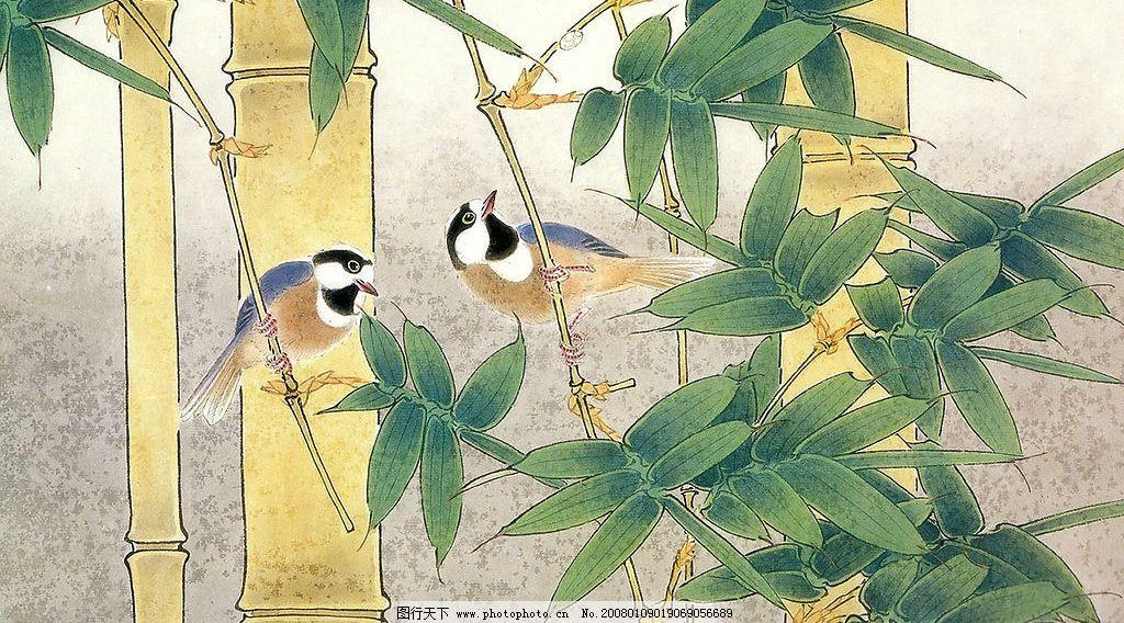 手绘花鸟图片