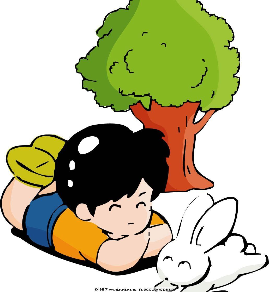 小孩和动物 小孩 动物 矢量人物 儿童幼儿 幼儿园 矢量图库   ai