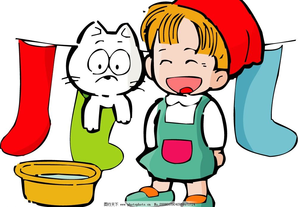 小孩和动物 小女孩 猫咪 矢量人物 儿童幼儿 幼儿园 矢量图库   ai
