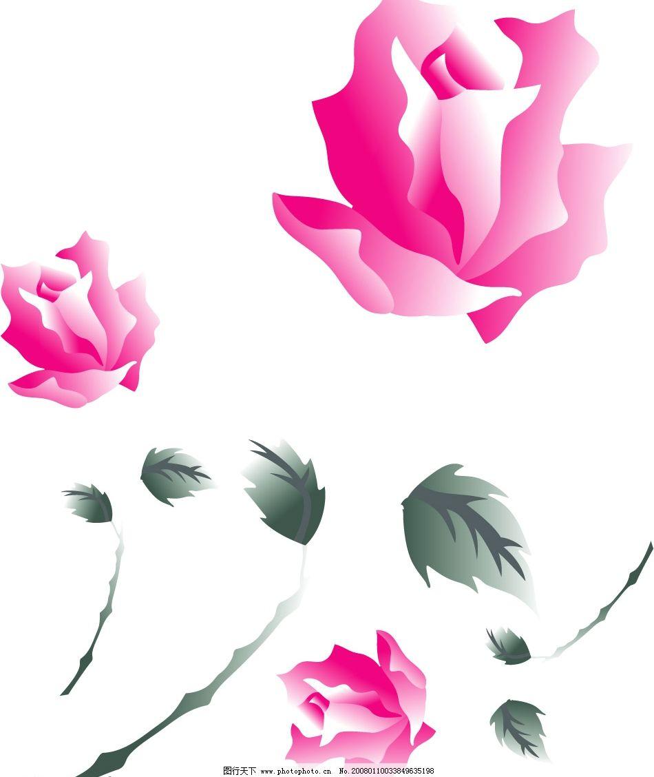 玫瑰花1 玫瑰 花 矢量