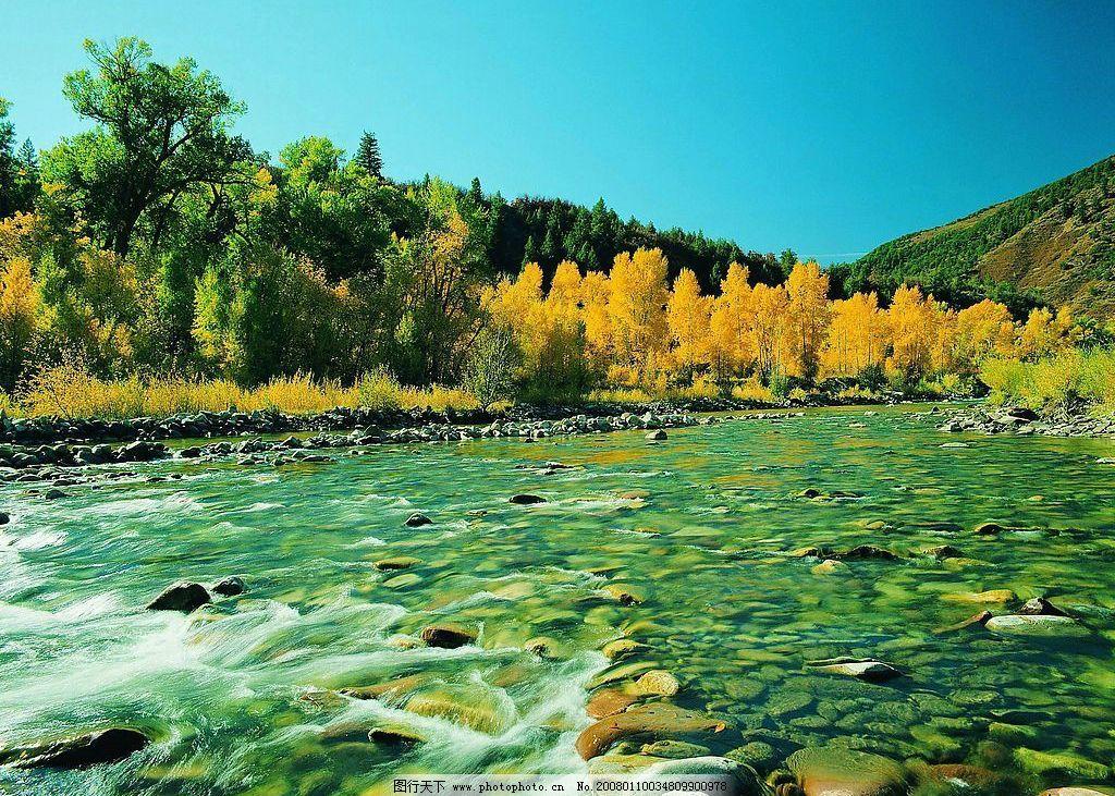 小溪 小河 溪水 河流 山涧 水塘 清澈 自然景观 自然风景 摄影图库 72