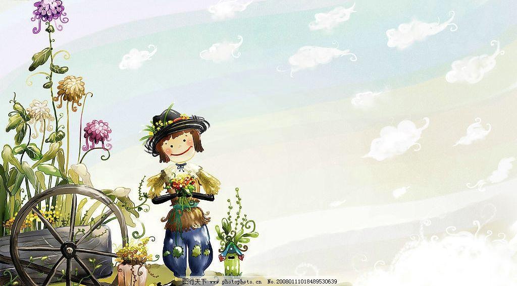 童话秋天 唯美 漫画 童话 风景 壁画 可爱 动漫动画 风景漫画 设计
