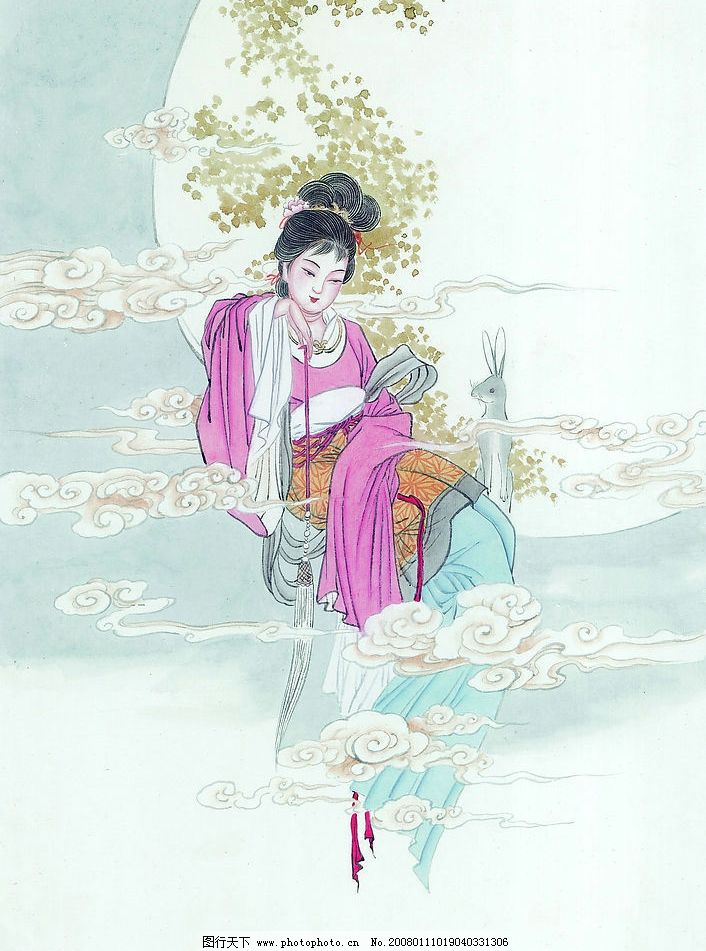 动漫仙女铅笔画