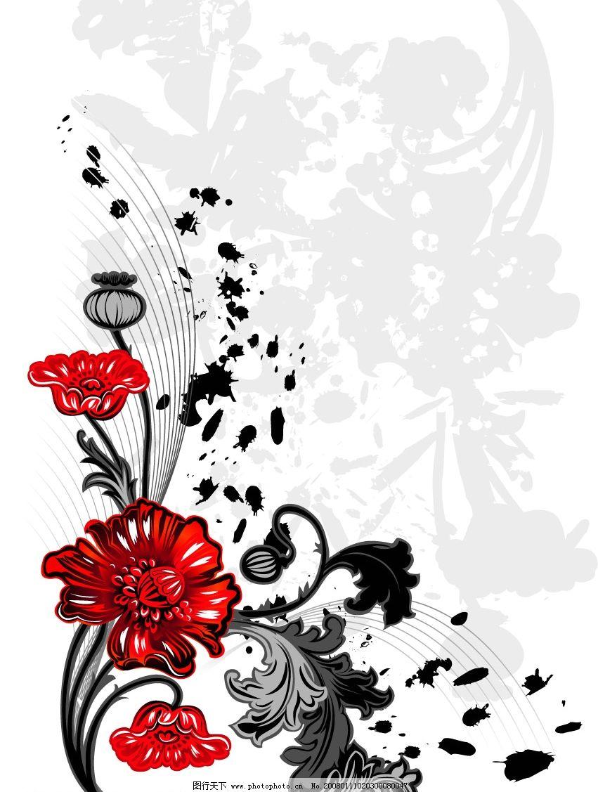 美丽花素材 美丽花素材ai 底纹边框 花纹花边 矢量图库   eps