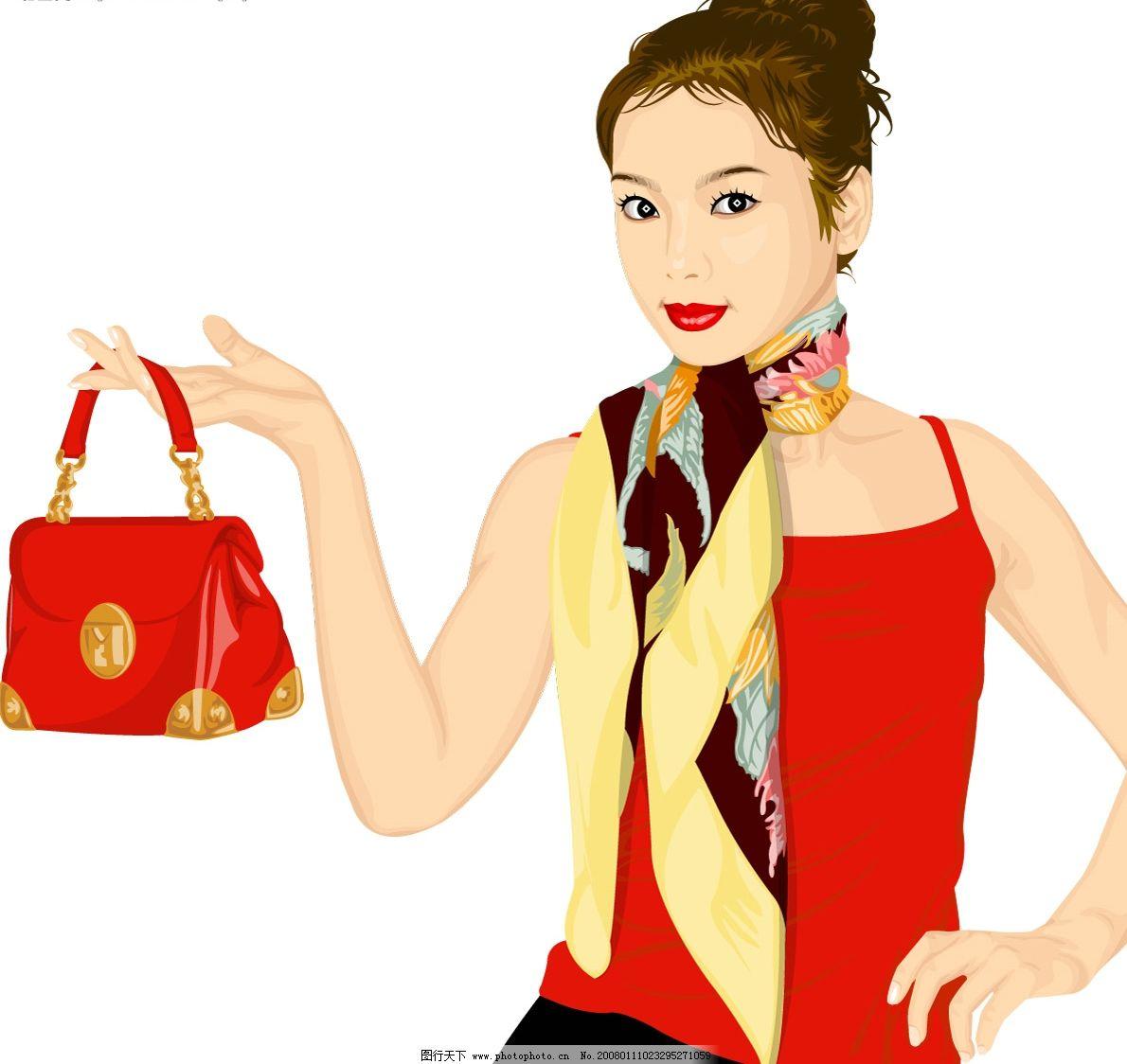 职业人 职业 女性 白领 矢量人物 职业人物 矢量图库   ai