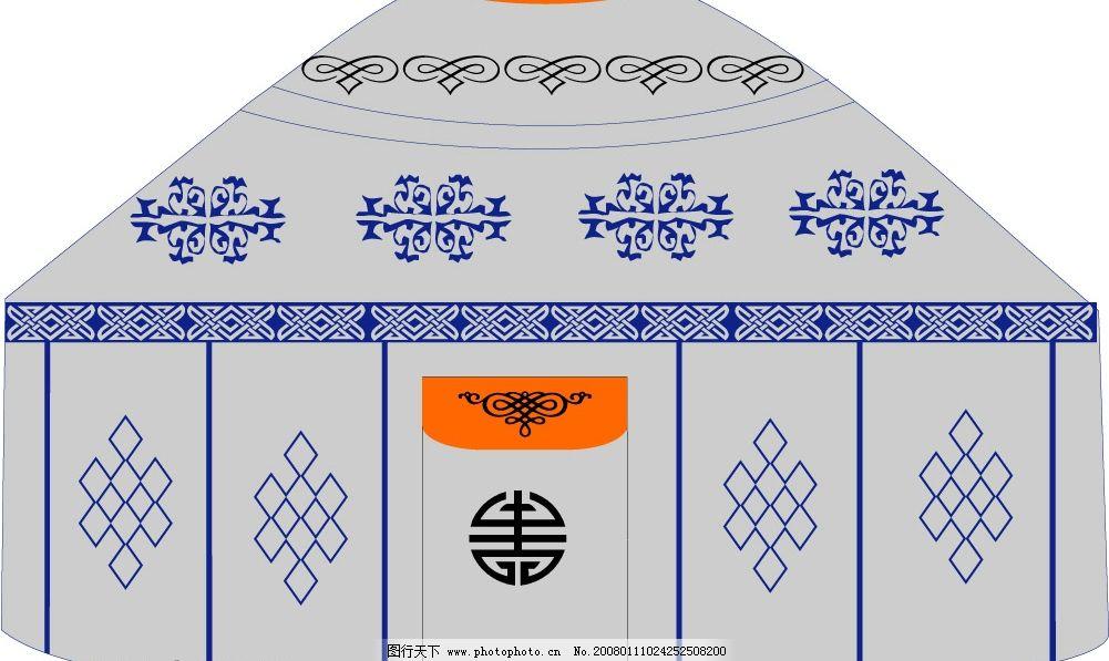 手绘蒙古包图片