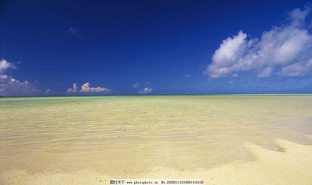 海滩 风景 自然景观 自然风光 景 沙滩 大海 海水 蓝天 白云 其他