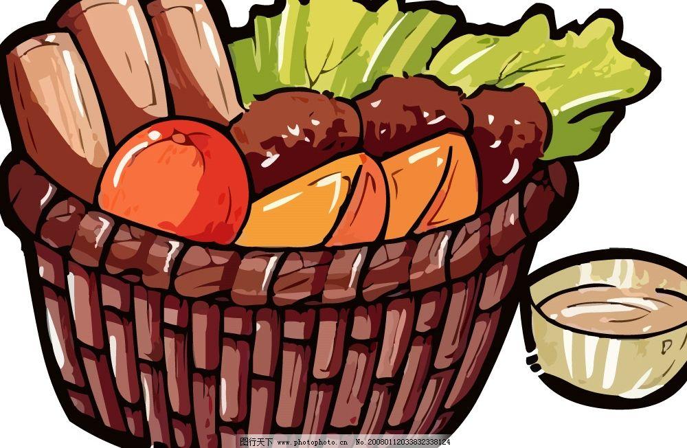 pop食物素材ai 篮子 蔬菜 碗 其他矢量 矢量素材 pop矢量 矢量图库