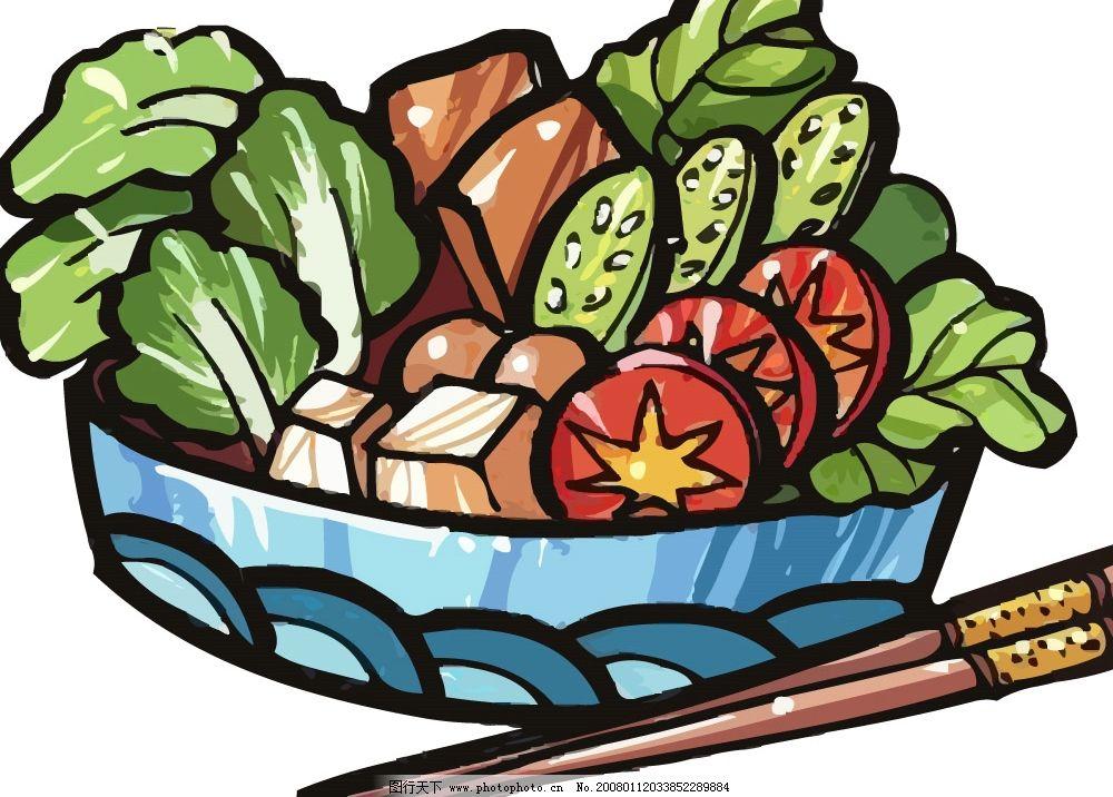 pop食物素材ai 菜 盘子 筷子 其他矢量 矢量素材 pop矢量 矢量图库