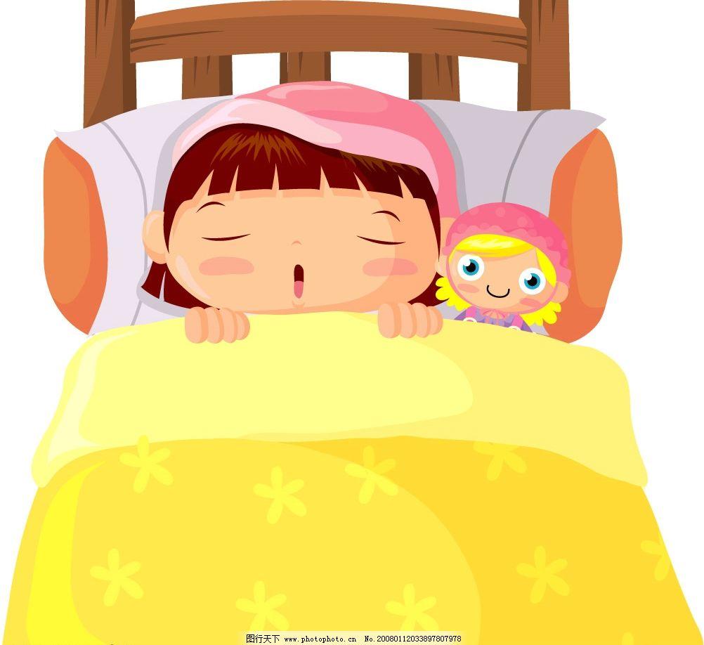 正在睡觉的小女孩图片