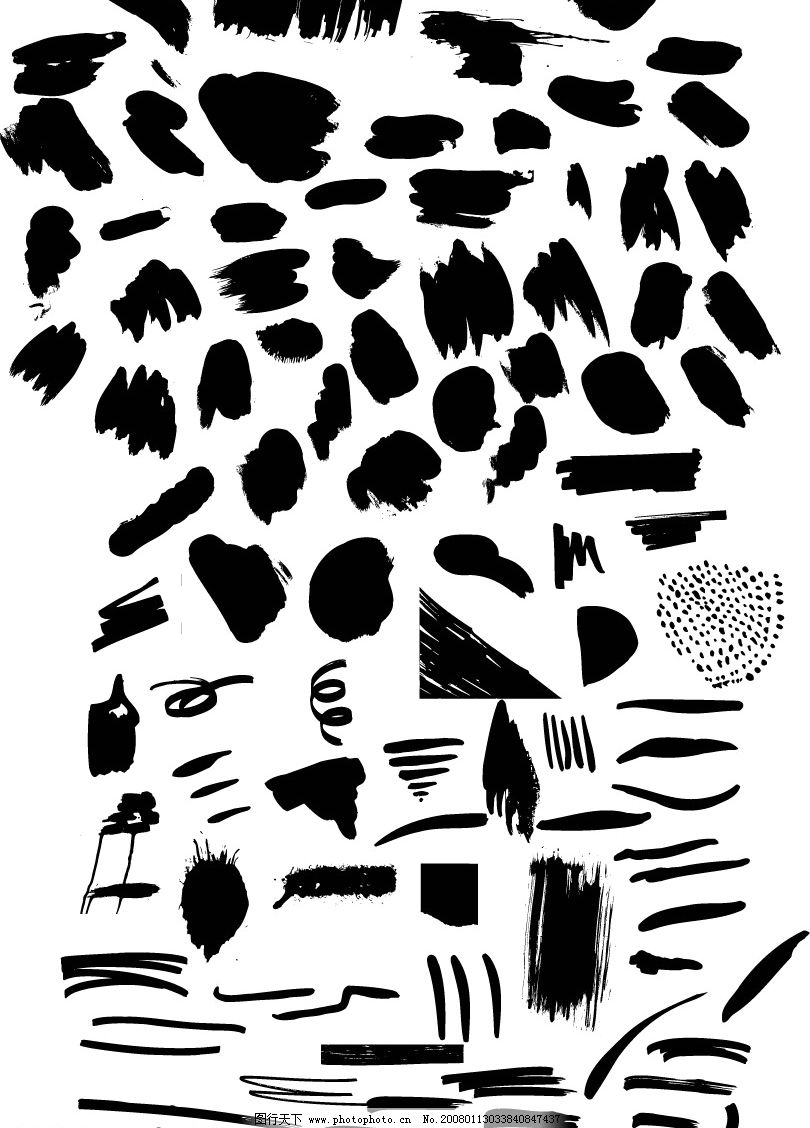 笔触 矢量 花纹 边框 其他矢量 矢量素材 矢量图库