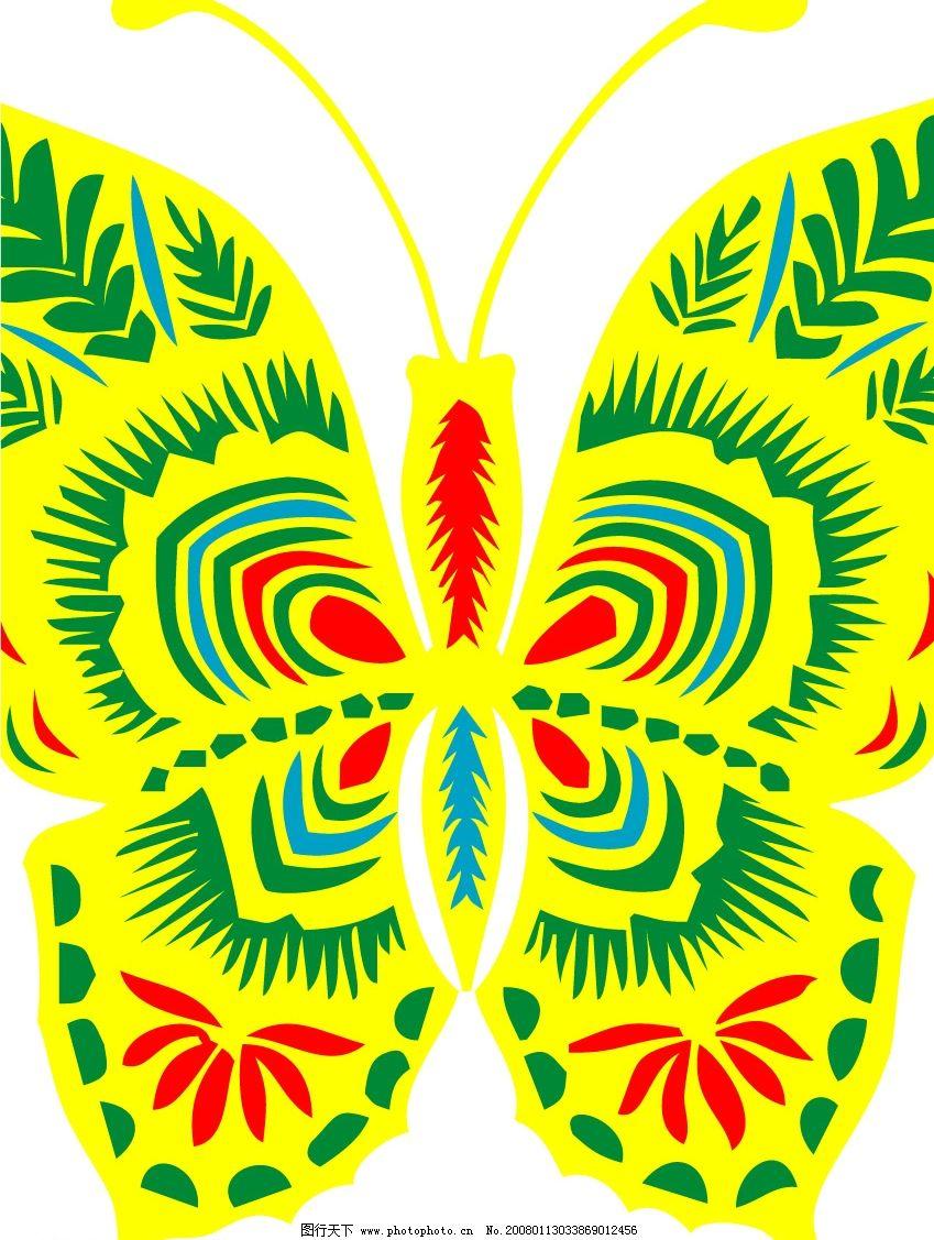 花蝴蝶 其他矢量 矢量素材 矢量图库   cdr