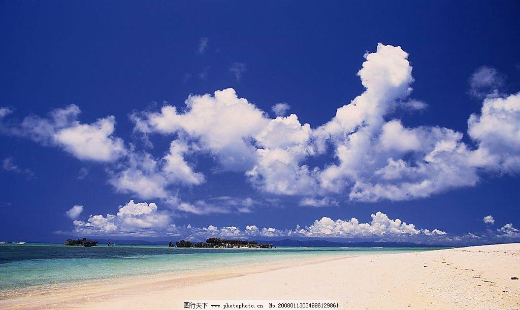 海浪 风景 自然景观 自然风光 景 海滩 沙滩 大海 海水 蓝天 白云