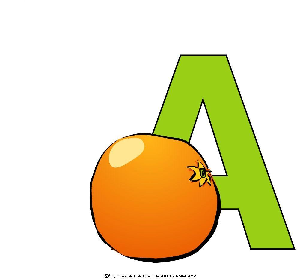 趣味字母 A字母2 生物世界 野生动物 矢量图库   eps