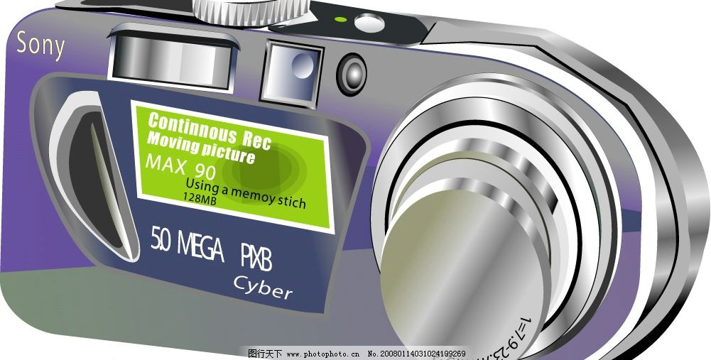 相机 矢量的 索尼 广告设计 其他设计 矢量图库