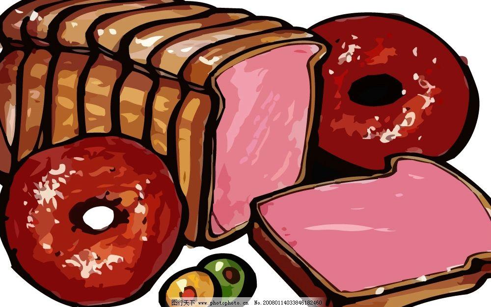 pop面包店手绘海报