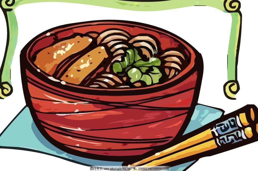 pop食物素材 筷子 碗 面 其他矢量 矢量素材 pop矢量 矢量图库   ai