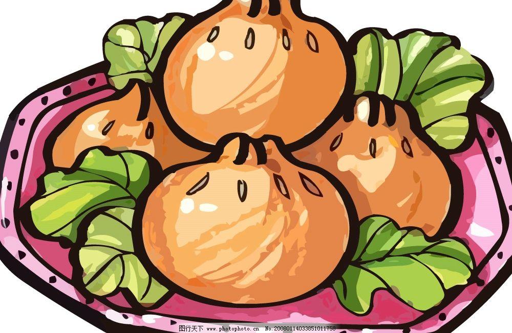 pop食物素材 盘子 菜 包子 其他矢量 矢量素材 pop矢量 矢量图库   ai
