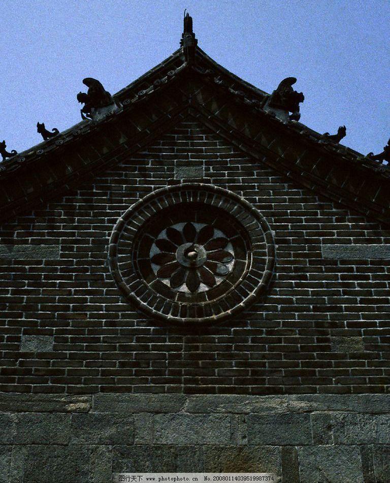 古建筑73 山墙 砖雕 建筑园林 园林建筑 摄影图库