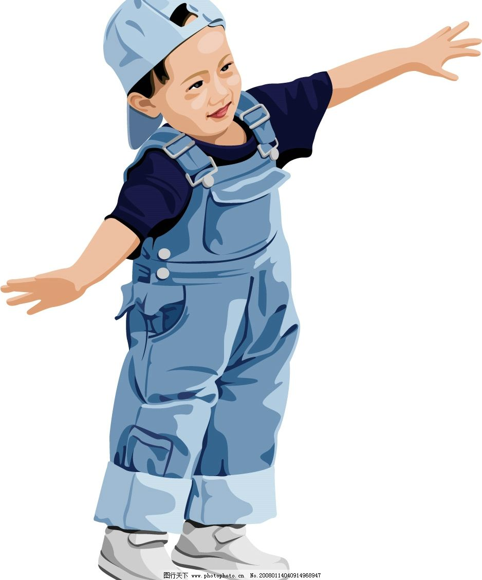 时尚矢量小孩图片