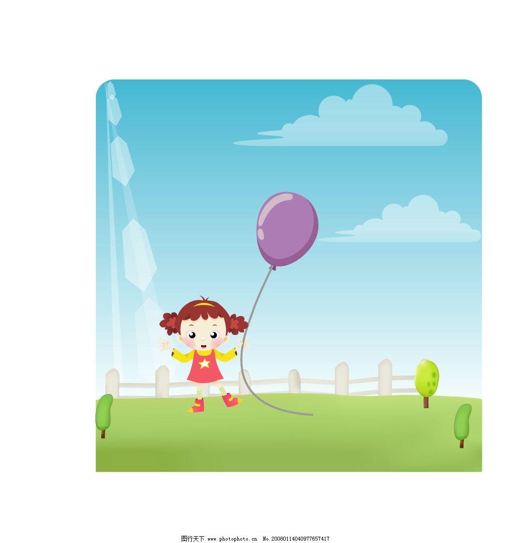 卡通女孩图片_动画素材_flash动画_图行天下图库