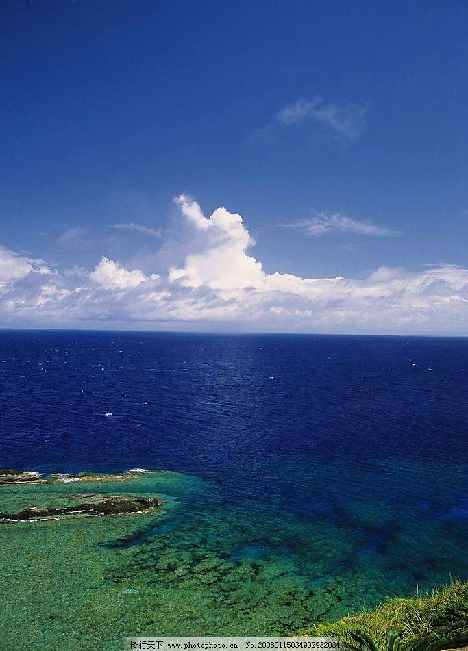 大海 风景 自然景观 自然风光 景 海滩 沙滩 海浪 海水 蓝天 白云