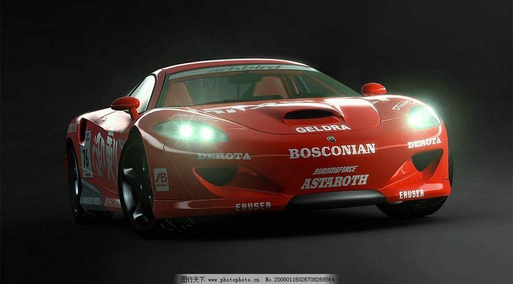 车子素材 赛车 红色 素材 现代科技 交通工具 设计图库 96 jpg