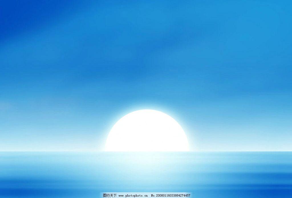 天空 太阳 海面 水面 日落 壁纸 蓝调 其他 图片素材 桌面壁纸 设计图